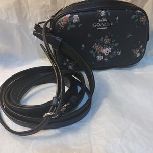 Coach Bags - Coach crossbody bag in blue with flowers